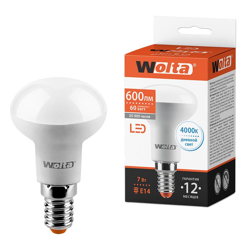 Светодиодная лампа WOLTA 25S50R7E14 7Вт 4000K E14