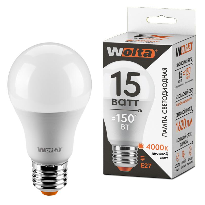 Светодиодная лампа WOLTA LX 30S60BL15E27 15Вт 4000К Е27