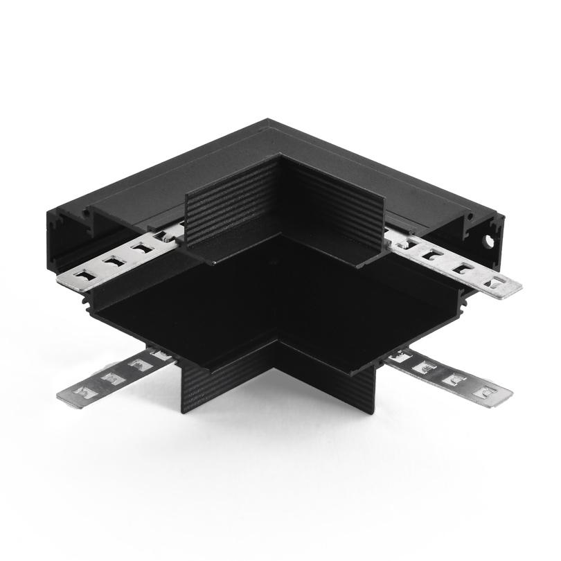Угловой соединитель внутренний для магнитного шинопровода WOLTA WML-RIC/02B