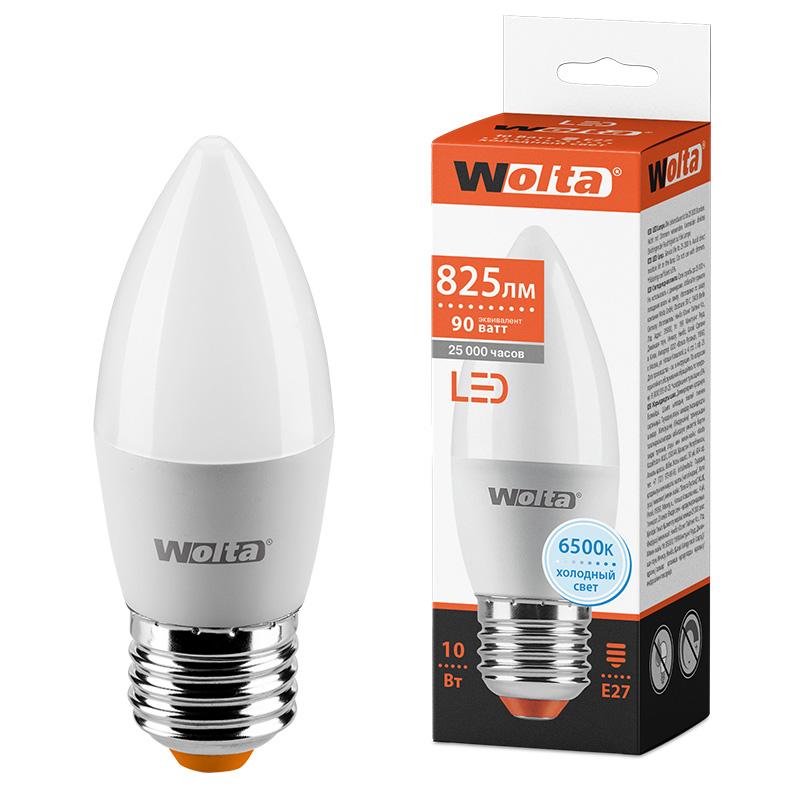 Светодиодная лампа WOLTA 25WC10E27 10Вт 6500K E27