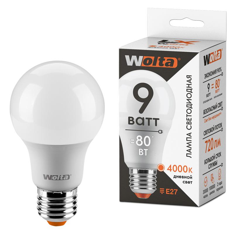 Светодиодная лампа WOLTA LX 30S60BL9E27 9Вт 4000К Е27