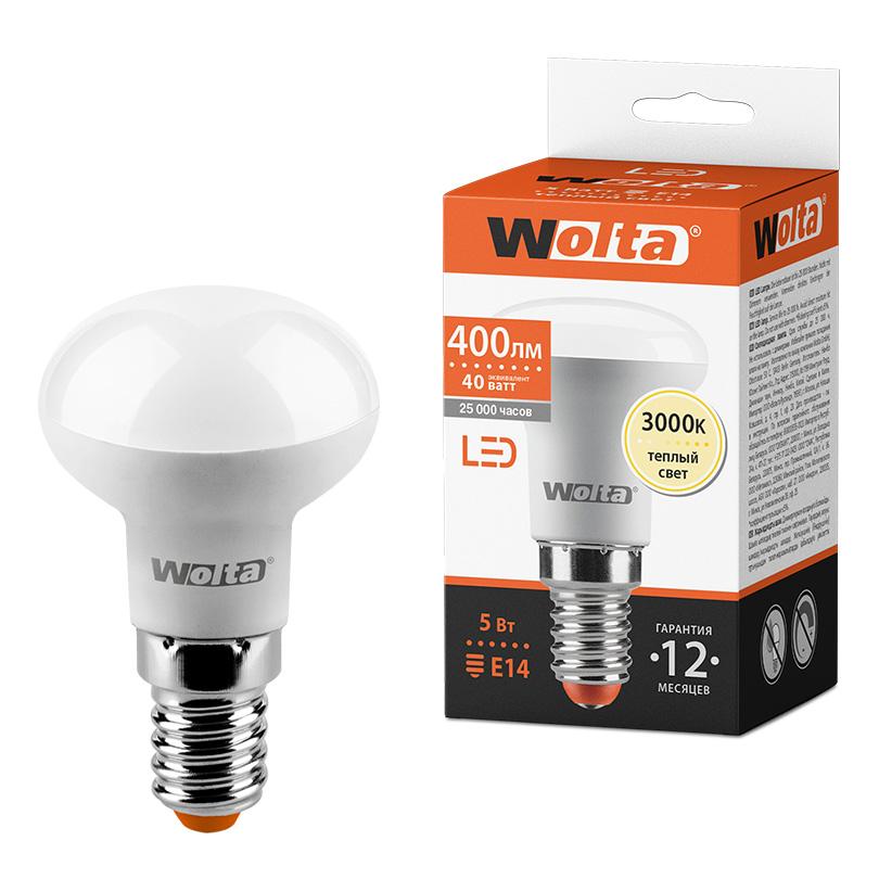Светодиодная лампа WOLTA 25Y39R5E14 5Вт 3000K E14