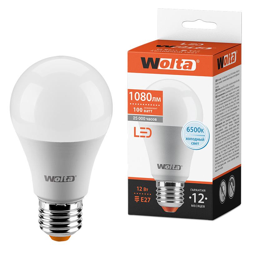 Светодиодная лампа WOLTA 25W60BL12E27 12Вт 6500К E27