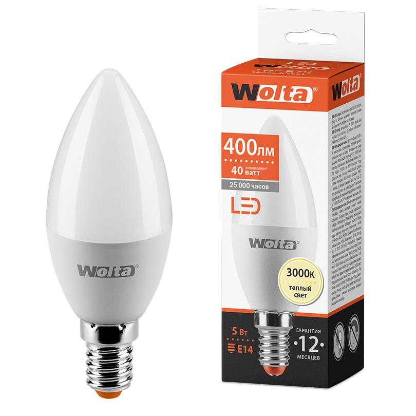 Светодиодная лампа WOLTA 25YC5E14 5Вт 3000K E14