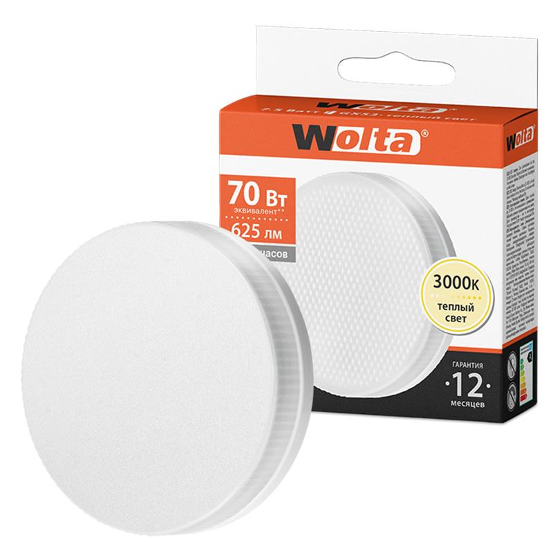 Светодиодная лампа WOLTA 25Y75R7.5GX53 7.5Вт 3000K GX53