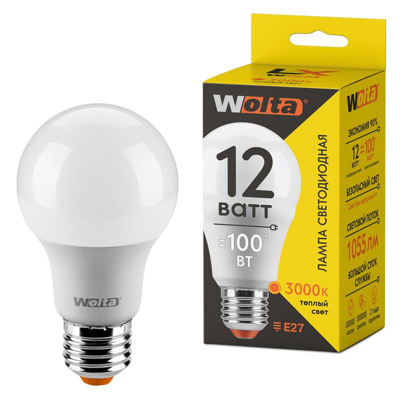 Светодиодная лампа WOLTA LX 30Y60BL12E27 12Вт 3000К Е27