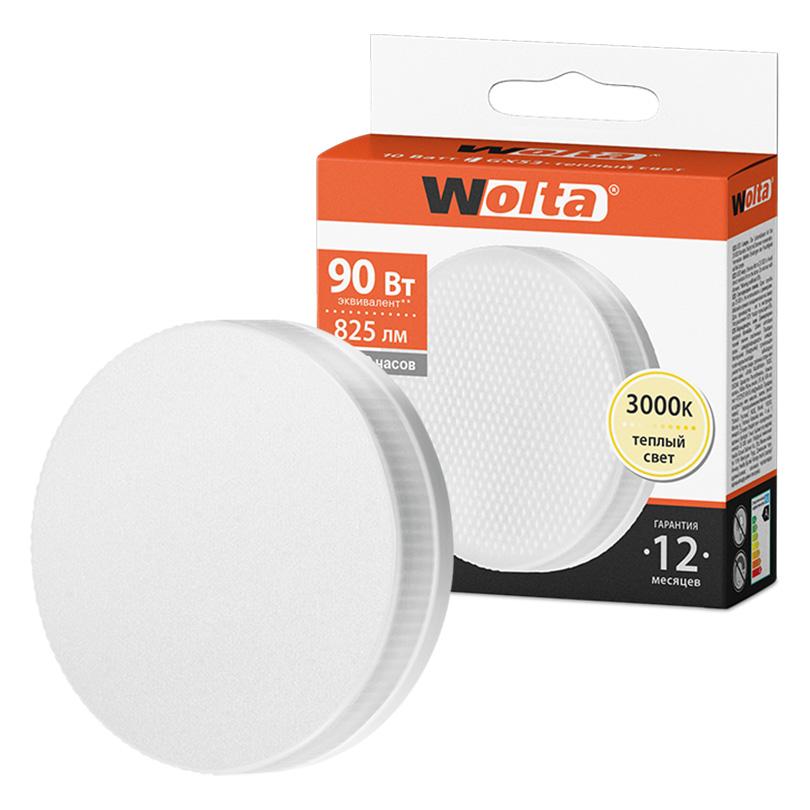 Светодиодная лампа WOLTA 25Y75R10GX53 10Вт 3000K GX53