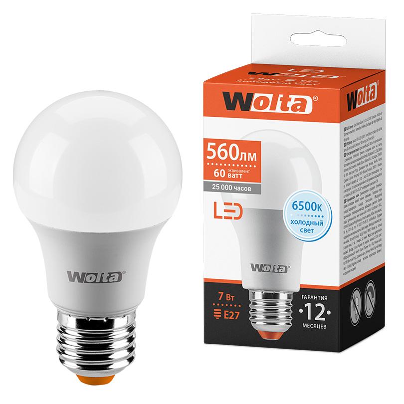 Светодиодная лампа WOLTA 25W55BL7E27 7Вт 6500К E27