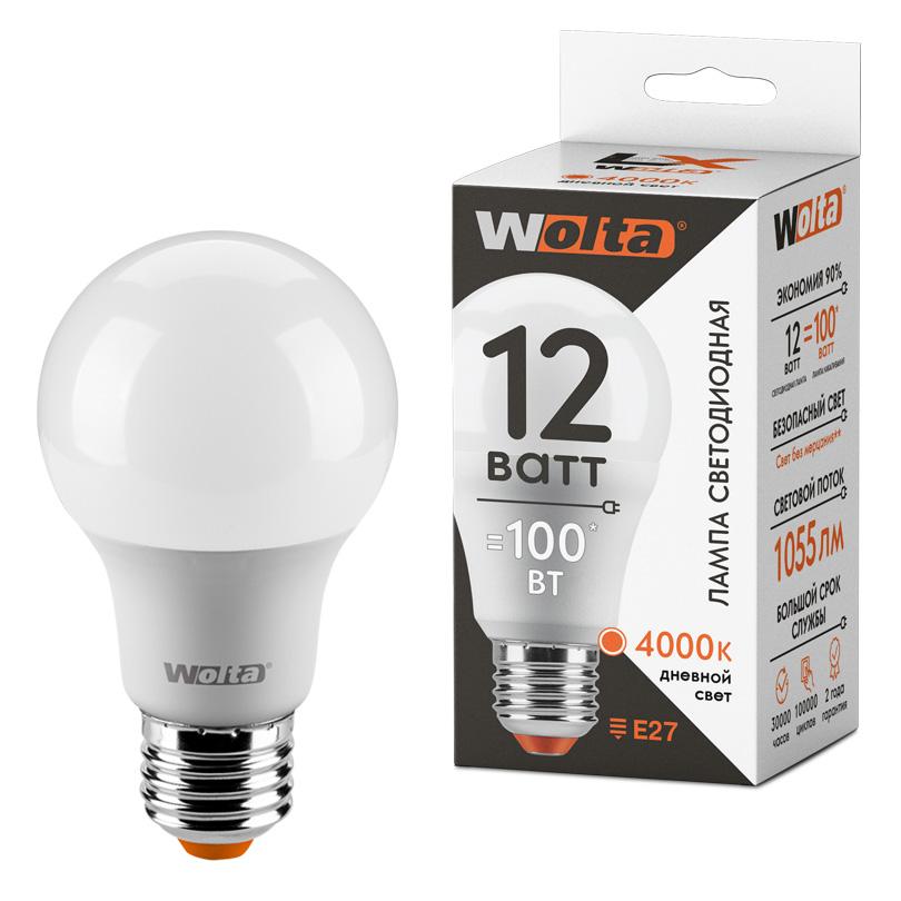 Светодиодная лампа WOLTA LX 30S60BL12E27 12Вт 4000К Е27